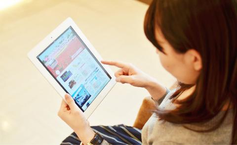 待合スペースには電子書籍も読めるiPadを5台完備。